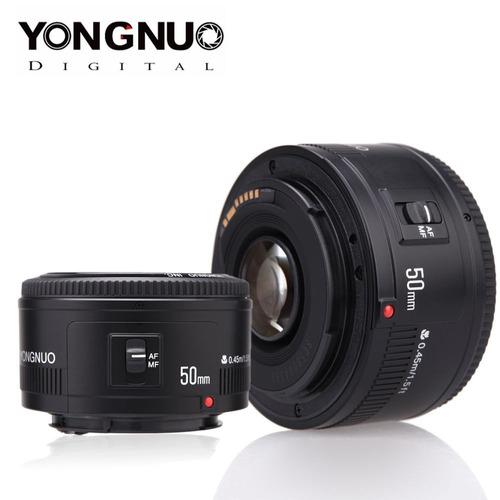 canon 50mm yongnuo ef f/1.8 objetiva fixa t5i t6i t3i t5