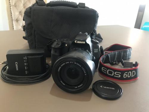 canon 60d eos (usada) - kit com estojo, lente adicional.
