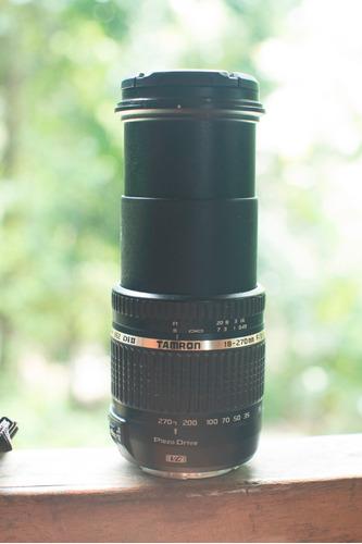 canon 60d + excelente lente tamron 18-270 estabilizado