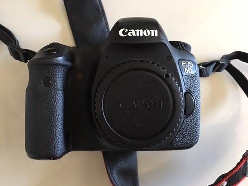 canon 6d + 2x 32gb + bateria extra. 12x sem juros
