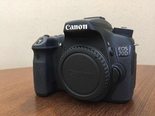 canon 70d com lente canon 28-135mm e vários acessórios