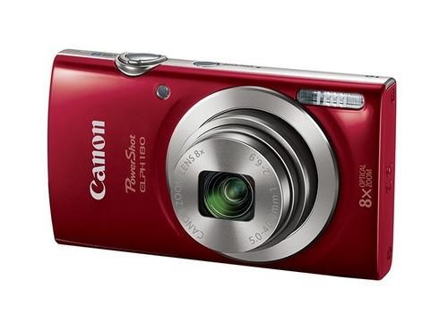 canon camara digital plata / roja elph 180 is 20mpx