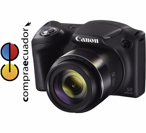 canon cámara sx420is 20.0 mp zoom 42x wifi nfc power shot
