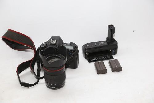 canon d 40 + lente 28 135 de canon + grip canon +2 baterias