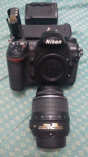 canon d200 + grip + lente 18-55