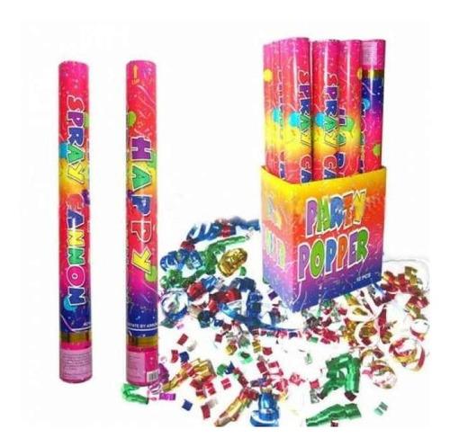 cañon de confeti confeti fiestas eventos hora loca 30cm