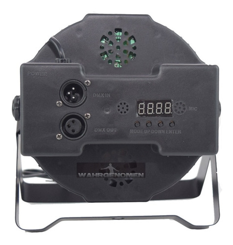 cañon de leds rgb 18x1 audioritmico dmx automatico multicolo