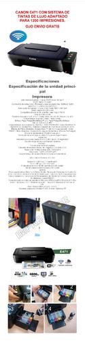 canon e471-wifi- sistematinta continua de lujo+obsequio