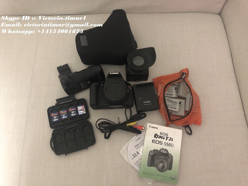 canon eos 550d / t2i with 18 -55mm, 50mm