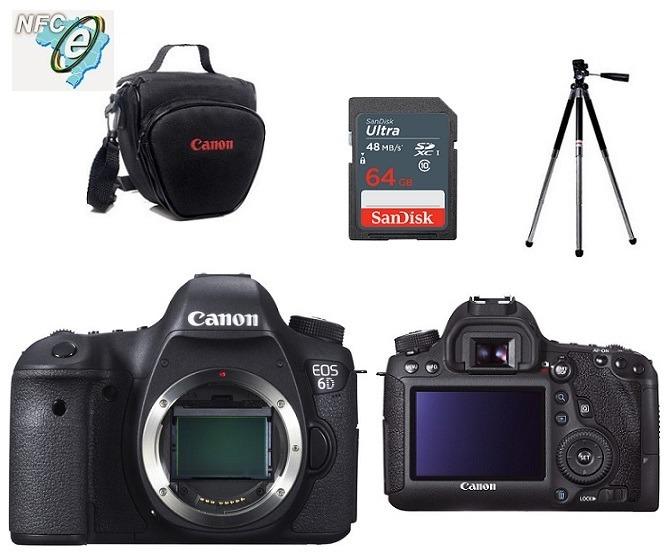 Canon Eos 6d Full Frame Corpo + Bolsa+tripé+64gb C10 + Nota - R ...