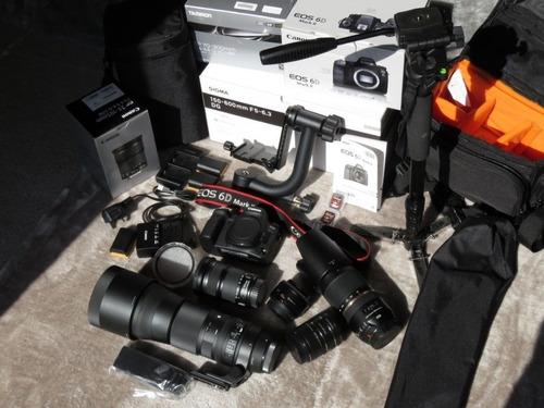 canon eos 6d mark ii cámara réflex digital, lentes