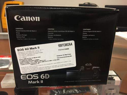 canon eos 6d mark ii cuerpo + flash 430ex iii, nueva!