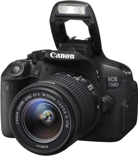 canon eos 700d - cámara réflex digital de 18 mp (pantalla...