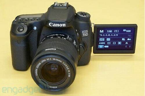 canon eos 70d digital camera 18.0 mp slr with lens bundle