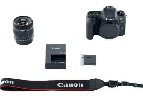 canon eos 77d  + lente 18-55mm  + tripode