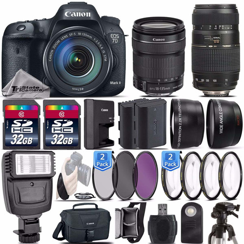 canon eos 7d mark il dslr 20.2mp kit completo prefesional