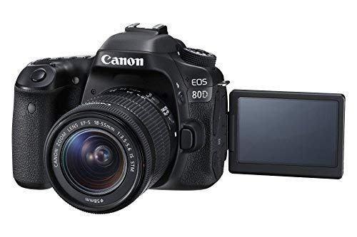 canon eos 80d digital slr kit con ef-s 18-55 mm f / 3.5-5.6