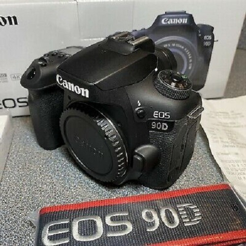 canon eos 90d 32.5mp digital slr camera - black (body only)