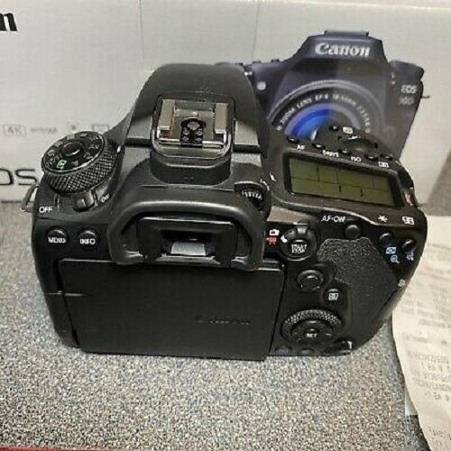 canon eos 90d 32.5mp digital slr camera - black (body only)