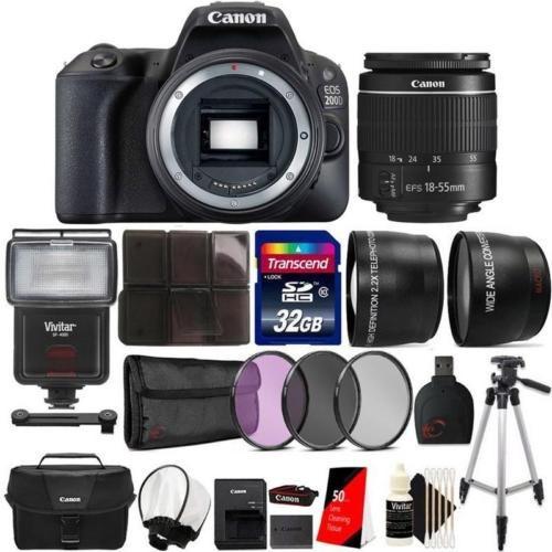 canon eos d 200 / sl2 24.2mp cámara dslr + lente 18-55 mm +