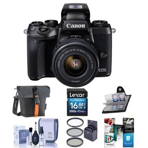 canon eos m5 kit de cámara digital sin espejo con lente...