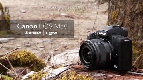canon eos m50 camara sin espejo w  4k video negro