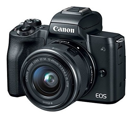 canon eos m50 mirrorless camera kit w ef m15 45mm and 4k