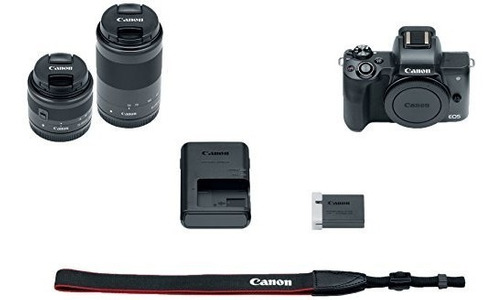 canon eos m50 mirrorless camera kit w ef m15 45mm + ef m
