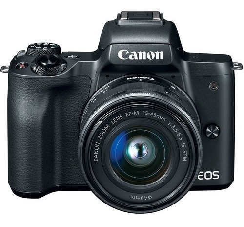 canon eos m50 mirrorless lente15-45mm + 64gb + bolso