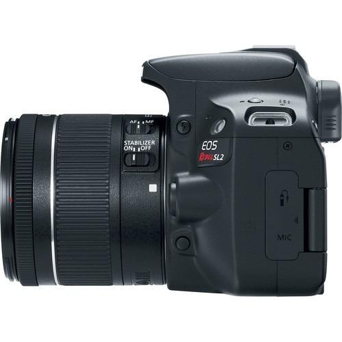 canon eos rebel sl2 con lente ef-s 18-55mm is + curso abc de
