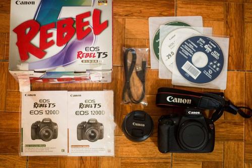 canon eos rebel t5 con lente 18-55mmm