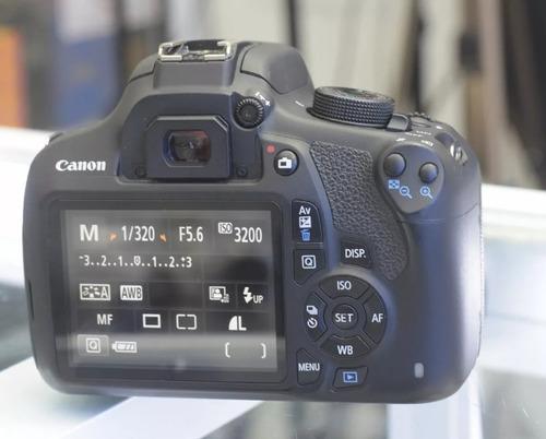 canon eos rebel t5 + lente 18-55mm + kit