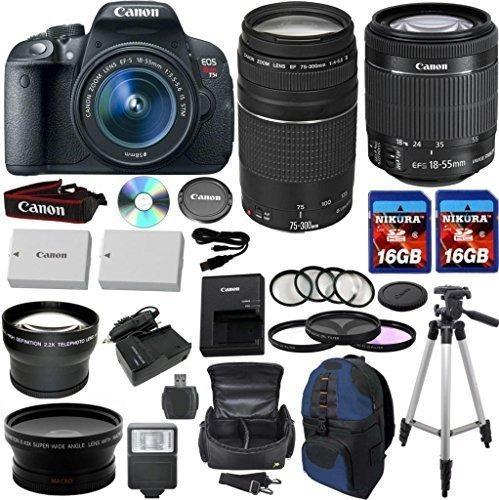 canon eos rebel t5i 18,0 mp cámara digital cmos hd video...