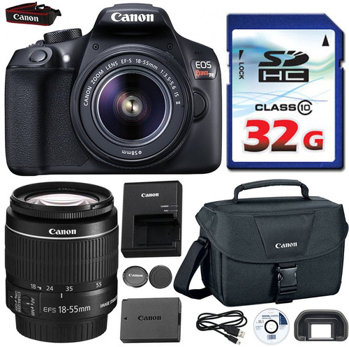 canon eos rebel t6 dslr 18mp wifi enabled + ef-s 18-55mm