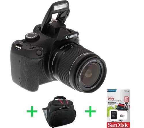 canon eos rebel t6 kit 18-55 reflex + memo 32gb c10 + bolso!