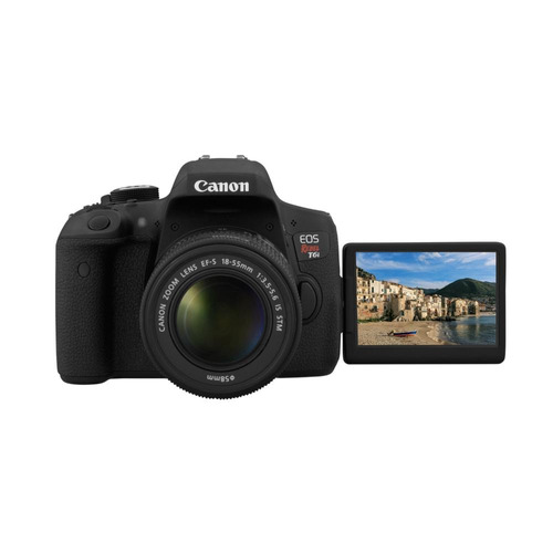 canon eos rebel t6i kit 18-55mm + estuche + sd16gb