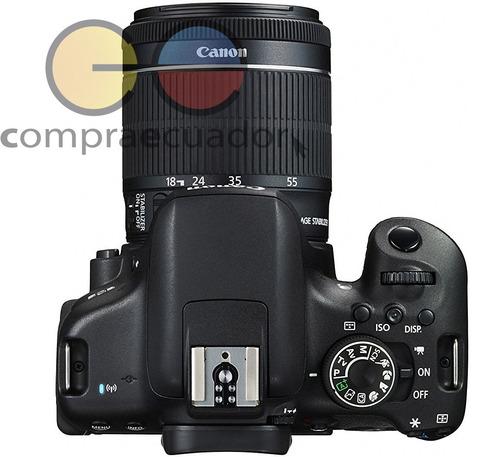 canon eos rebel t6i + lente 18-55mm pantalla touch 3¨ fullhd