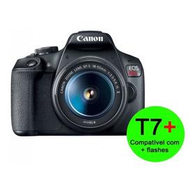 Canon Eos Rebel T7 Lente 18-55mm Iii Brinde Card 32g