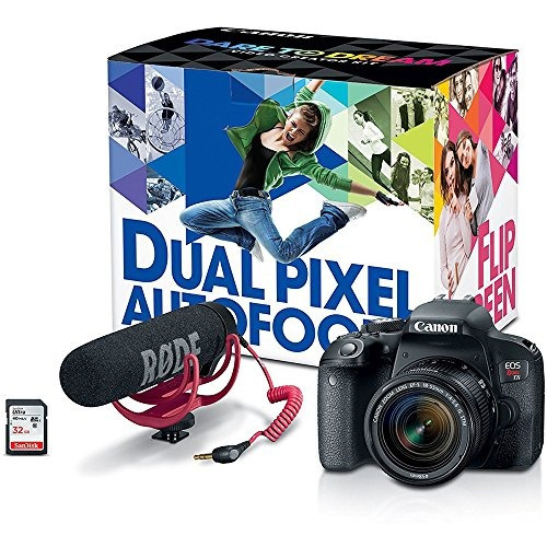 canon eos rebel t7i cámara digital slr kit creador de vídeo