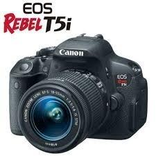 canon eos t5i lente 18-55mm stm + bolsa+tripé+64gb classe10