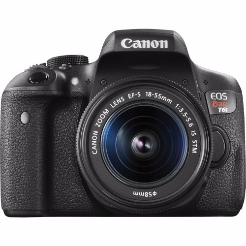 canon eos t6i 18-55 is stm + 16gb + bolso