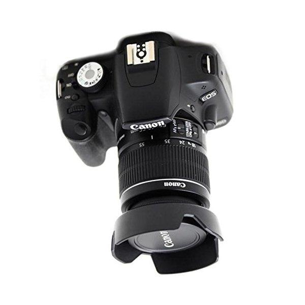 3,5-5,6 IS EW63C EW63C la cámara Parasol para Canon EF-S 18-55 mm f