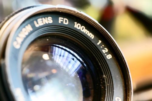 canon fd 100mm 2.8 montura canon ef