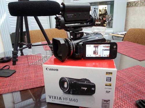 canon hf m40 cmos pro full hd profesional 16gb  equipadisima