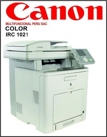 canon irc 1021, multifuncional copia imprime y escanea color