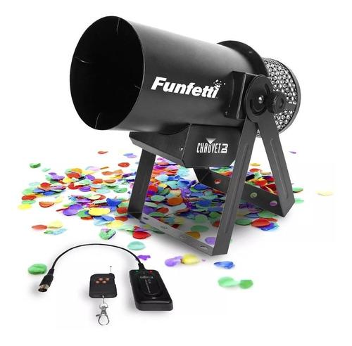cañon lanza confeti, chauvet dj funfetti shot envio inmediat
