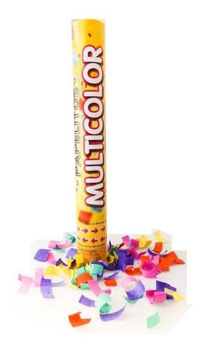 cañon lanza papelitos multicolor x12 candela fiestas eventos