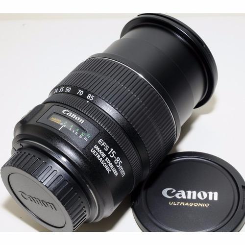canon lente 15-85 mm efs