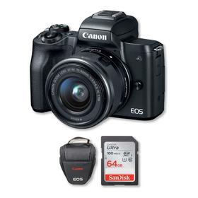 Canon M50 4k Con Lente 15-45mm + Memoria 64gb + Bolso