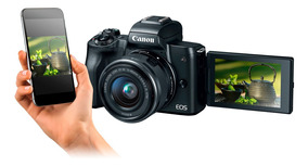Canon M50 Con Lente 15-45mm Video 4k App Canon Para Celular